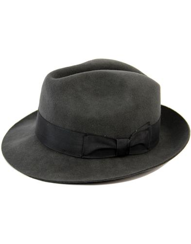FAILSWORTH Chester 60s Mod Wool Felt Trilby (GREY)