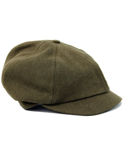 FAILSWORTH Washed Cotton 6 Panel Gatsby Cap KHAKI