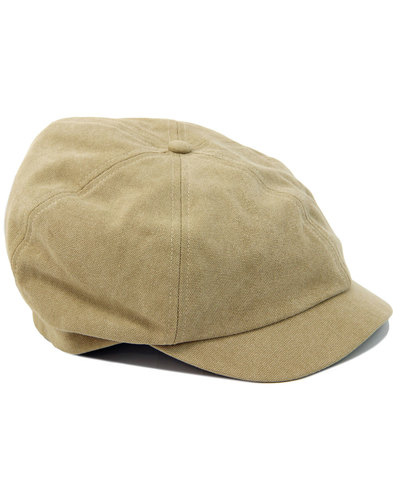 FAILSWORTH Washed Cotton 6 Panel Gatsby Cap STONE