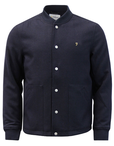 Leinster FARAH Retro Mod Melton Coaches Jacket