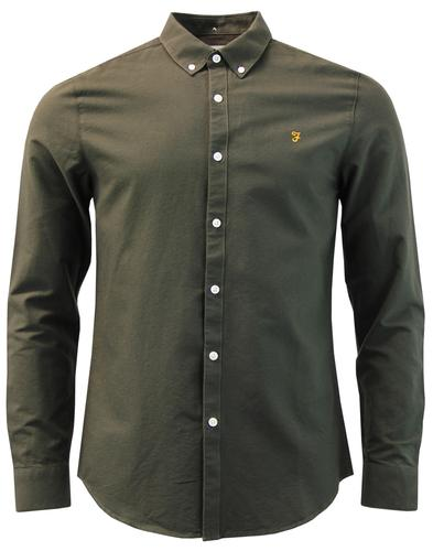 Brewer FARAH Mod Slim Button Down Oxford Shirt EG