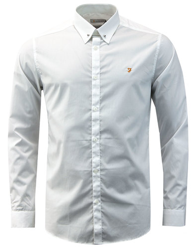 Handford FARAH Mens Mod Bar Collar Smart Shirt (W)