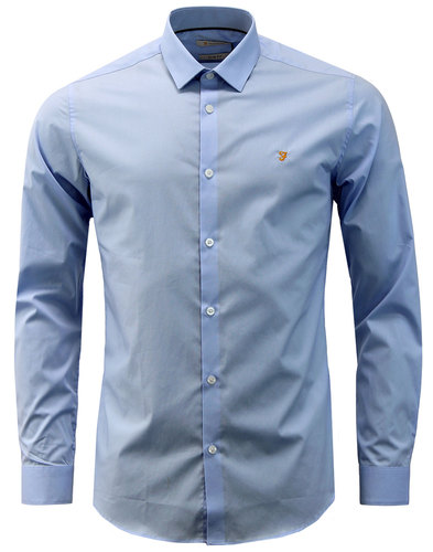 Handford FARAH Mens Mod Bone Collar Smart Shirt PB