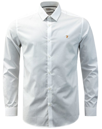Handford FARAH Mens Mod Bone Collar Smart Shirt W