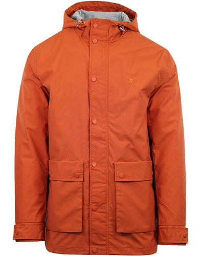 Rourke FARAH Retro 60s Showerproof Hooded Jacket O
