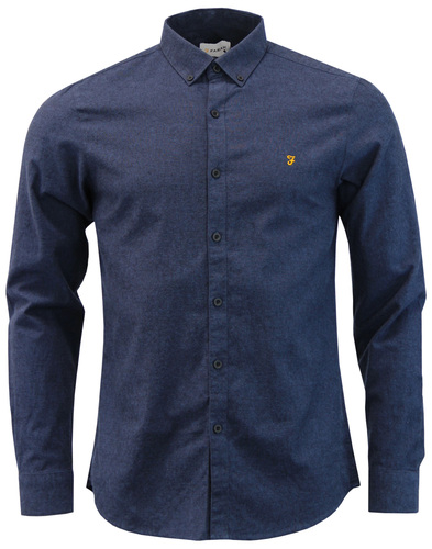 Steen FARAH Retro Mod Two Tone Oxford Shirt (CB)