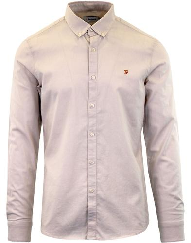 Steen FARAH Retro Button Down Oxford Shirt PEBBLE