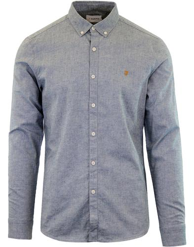 Steen FARAH Retro Button Down Oxford Shirt STELLAR