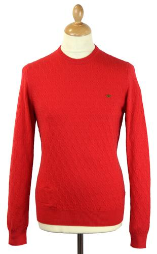 Kinnerton FARAH 1920 Cable Knit Retro Mod Jumper S