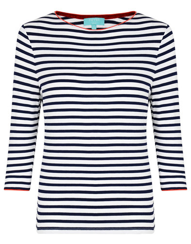 Fever Retro 60s Mod Striped Bardot Top