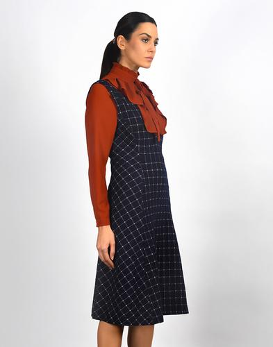 Highlands FEVER Vintage Deep V Pinafore Dress
