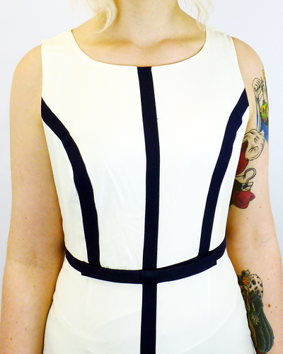 New York FEVER Vintage 60s Stripe Mod Pencil Dress