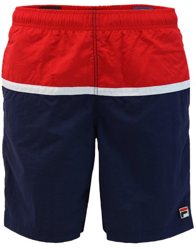 Nargiso FILA VINTAGE Retro Long Length Swim Shorts