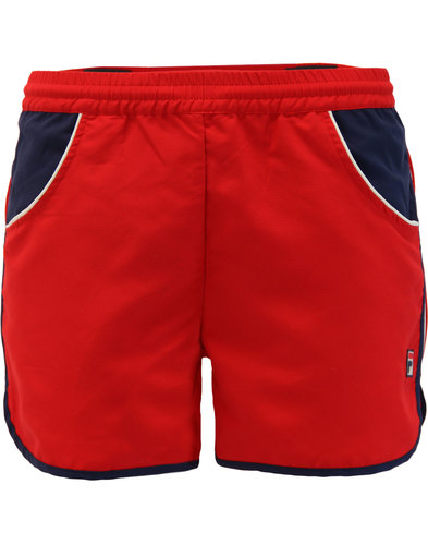 Tomas FILA VINTAGE Retro 70s Running Shorts RED