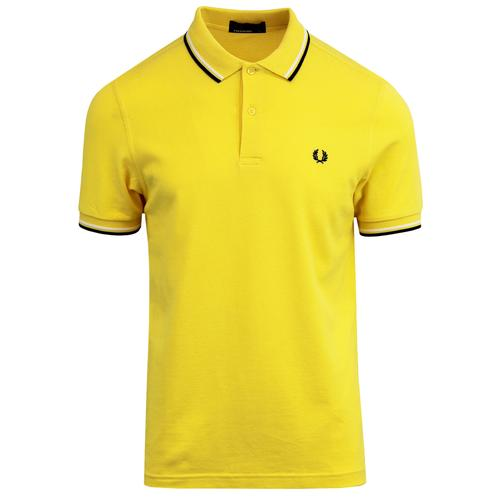 f1cd51f9 Fred Perry M3600 Twin Tipped Pique Polo Shirt in Electric Yellow