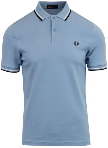 a65096420 Fred Perry M3600 Men s Mod Twin Tipped Pique Polo Shirt in Sky
