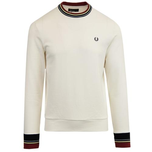 6f5f72b05 Fred Perry Men's Retro Mod Bold Tipped Ringer T-shirt in Snow White