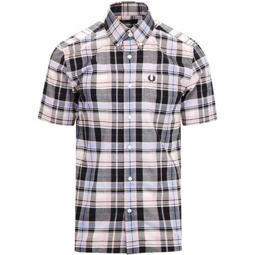 Mens Short Sleeve Summer Shirts, Mod Gingham Shirts