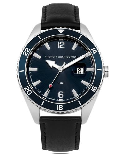FRENCH CONNECTION Retro Blue Dial Leather Watch