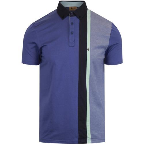 77ab0624e gabicci vintage mens landau retro cut and sew polo tshirt fistral blue