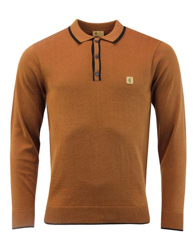 Lineker GABICCI VINTAGE Retro Tipped Knit Polo Top