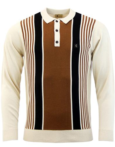 Searle GABICCI VINTAGE Multi Stripe Knitted Polo O