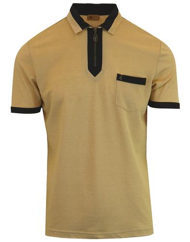 Pirro GABICCI VINTAGE Mod Zip Placket Polo Top (F)