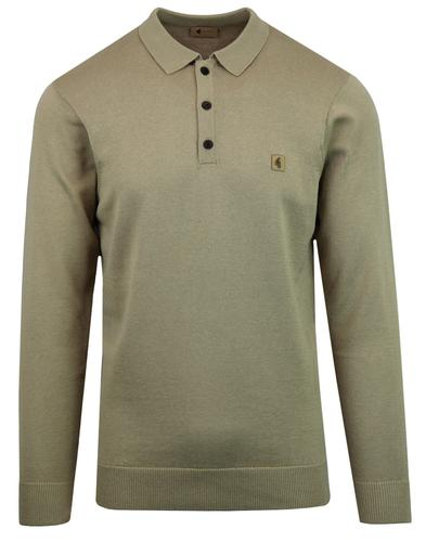 Francesco GABICCI VINTAGE Mod Knit Polo Top FAWN