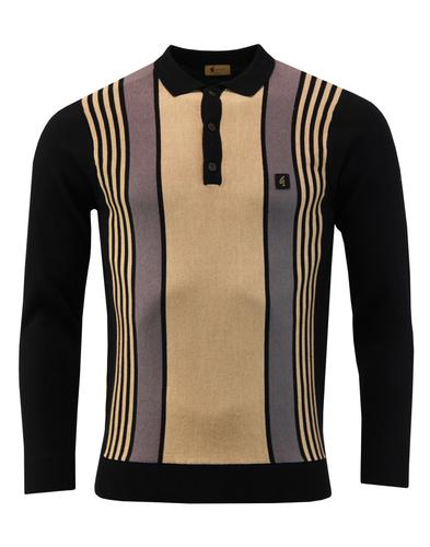 Searle GABICCI VINTAGE Mod Multi Stripe Knit Polo