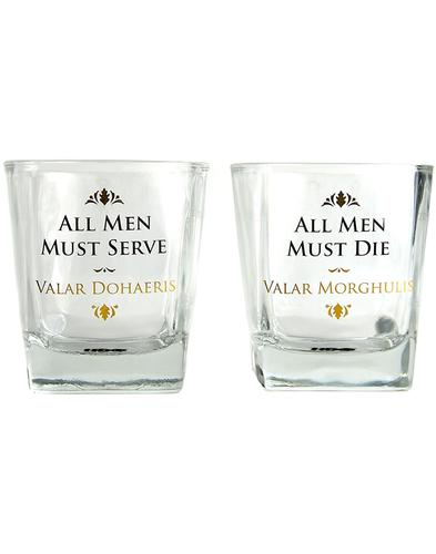All Men GAME OF THRONES 2 Set Retro Glass Tumblers