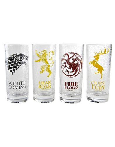 Sigils GAME OF THRONES 4 Set Retro Boxed Glasses