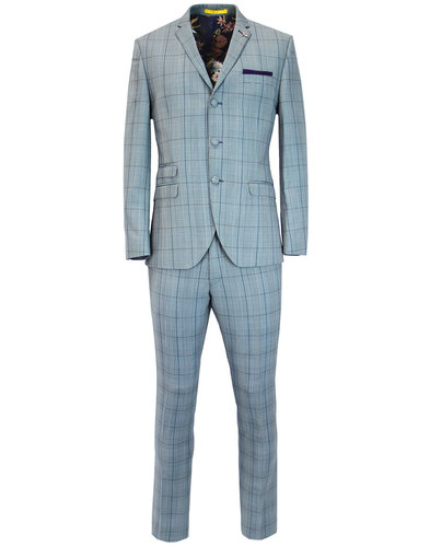 Marriott GIBSON LONDON Mod 3 Button POW Check Suit