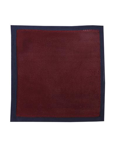 GIBSON LONDON Mod Knitted Pocket Square BURGUNDY