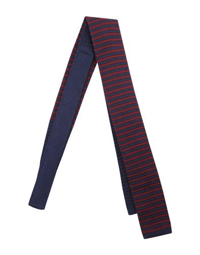 GIBSON LONDON Mod Stripe Square End Knit Tie (B/N)