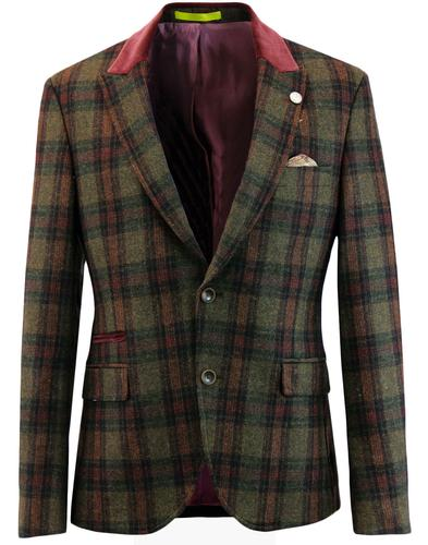 Temple Bar GIBSON LONDON Mod Multi Check Blazer