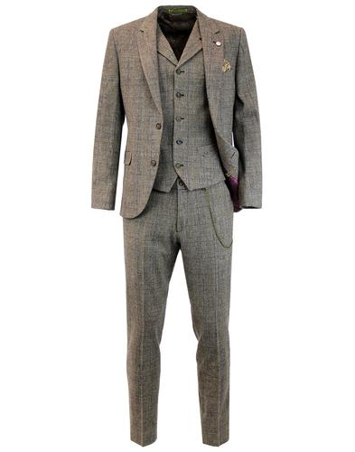 gibson london towergate mod pow check suit jacket