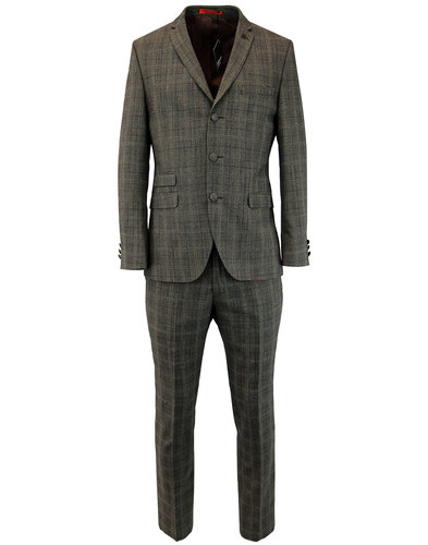 GIBSON LONDON Retro 3 Button Check Mod Suit