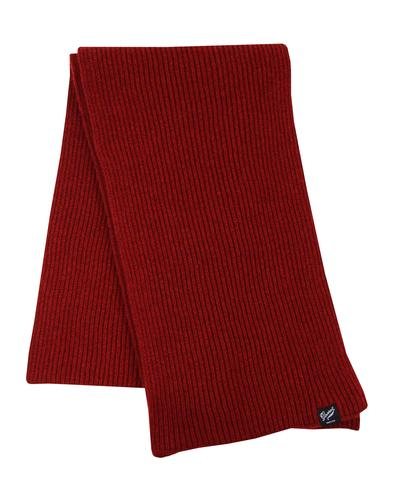 gloverall fisherman scarf burgundy  mod