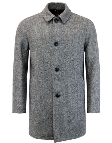 GLOVERALL Made in England Mod Herringbone Overcoat