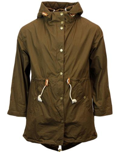 GLOVERALL Retro Mod Resin Coated Fishtail Parka
