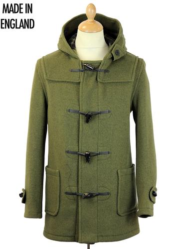 GLOVERALL Retro Checkback Mid Length Duffle Coat K