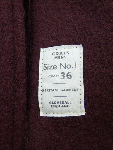 GLOVERALL 3210 Mid Length Monty Mod Duffle Coat Bu