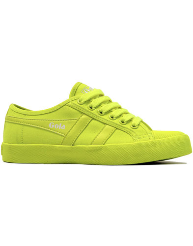 Coaster Neon GOLA Retro Canvas Trainers - Yellow