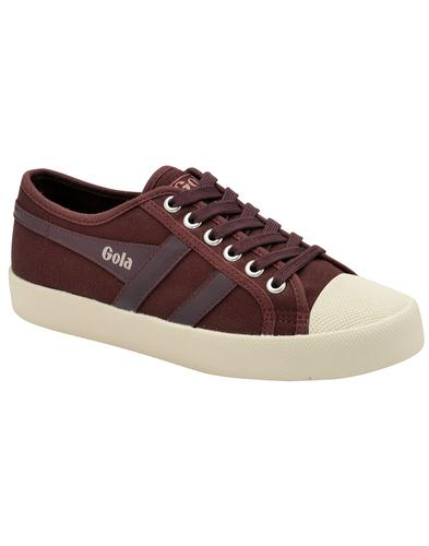 Coaster GOLA Womens Retro 70s Canvas Trainers WINE