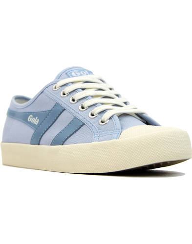 GOLA Coaster Womens Retro 70s Canvas Trainers BLUE
