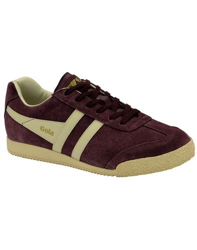 GOLA Harrier Womens Retro 70s Suede Trainers WINE