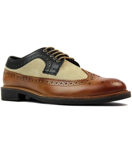 Ashworth GOODWIN SMITH 60s Mod Tri Colour Brogues