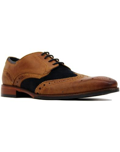goodwin smith church derby shoes tan/navy