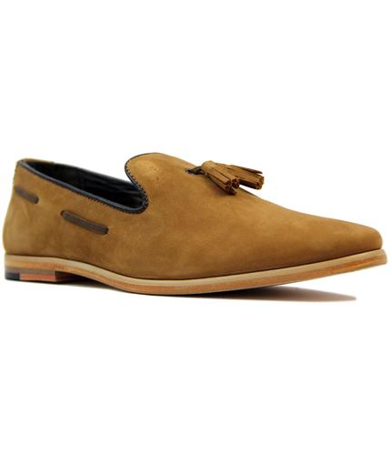 Harry GOODWIN SMITH 60s Mod Nubuck Tassel Loafers