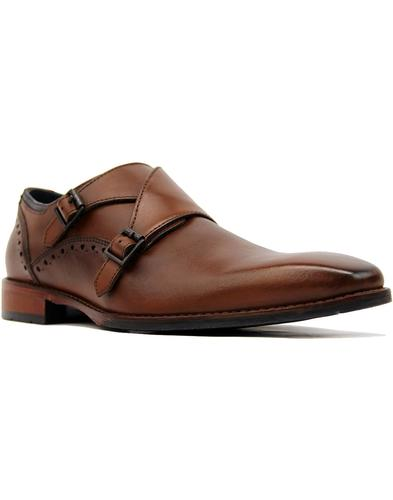 goodwin smith ribchester monk shoes dark tan